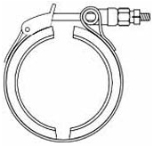 JV 7I 2CV Band Clamp Quick opening type with 2 segments